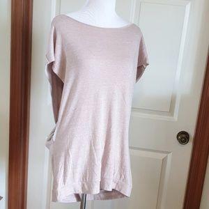 TROUVE blush pink super soft twist back top